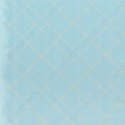 Tartan Single Border in Dusty Blue (Metallic)
