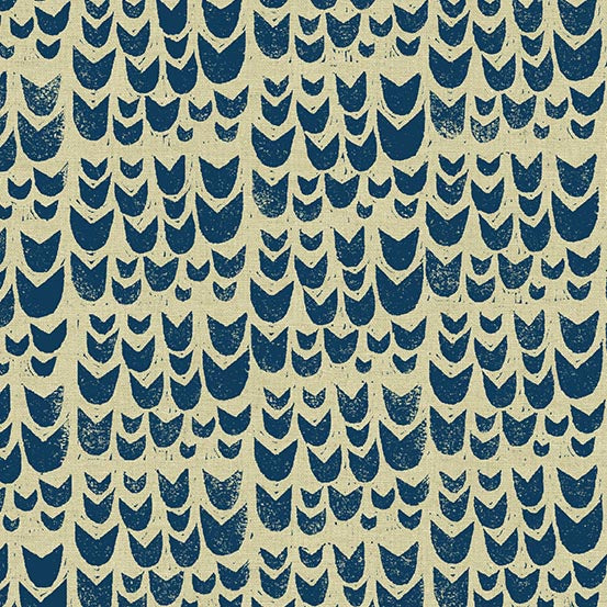 Tulips in Navy - Linen