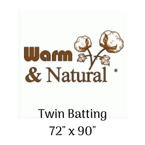 "Warm & Natural Batting - Twin size (72"" x 90"")"