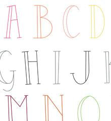 Skinny Letters Small Pack Embroidery Transfers by Sublime Stitching