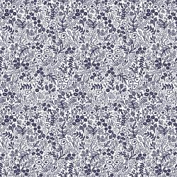 Navy Tapestry Lace