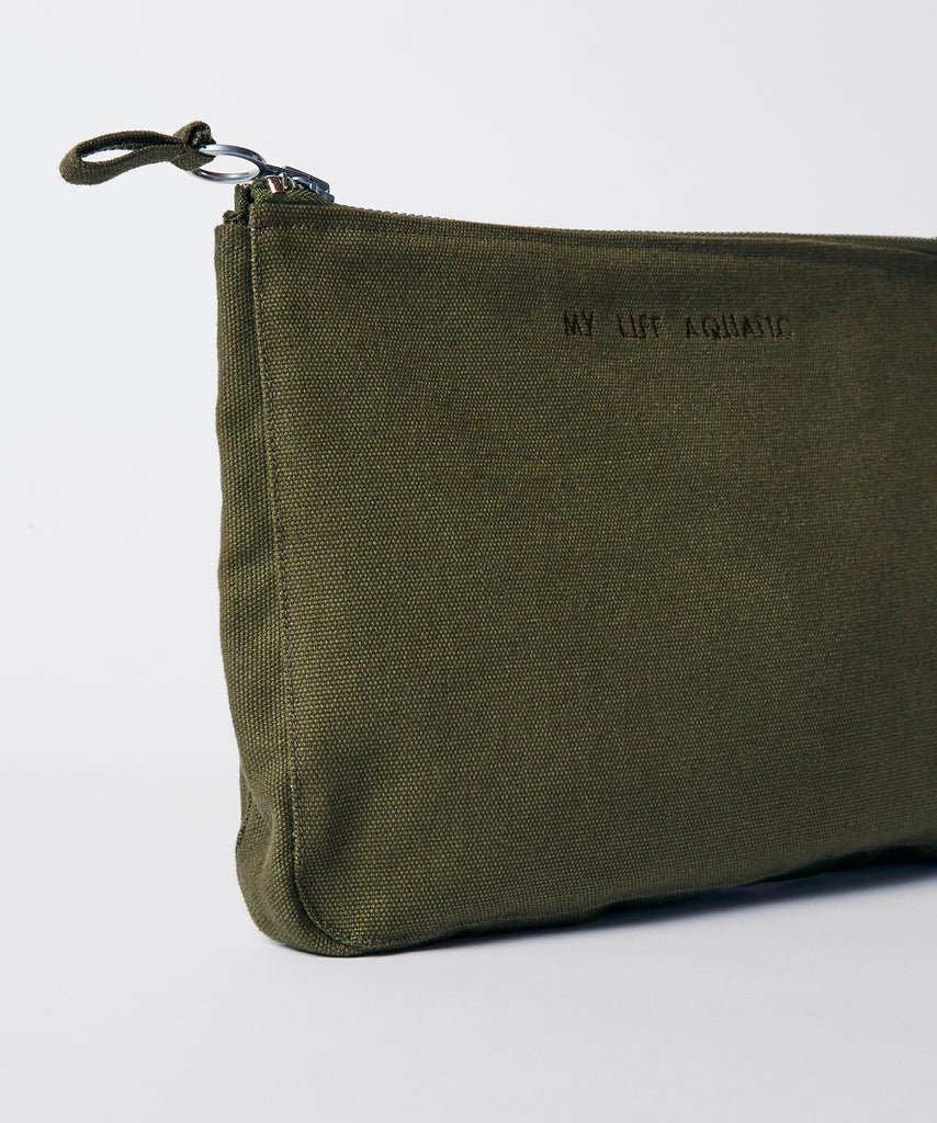 Canvas Beach Pouch — Khaki