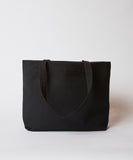 Canvas Beach Tote — Black