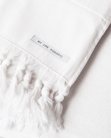Linen Beach Throw — White
