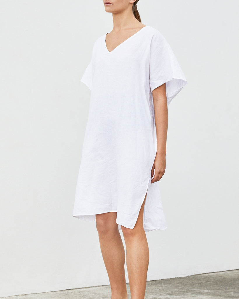 Dress with pockets — White