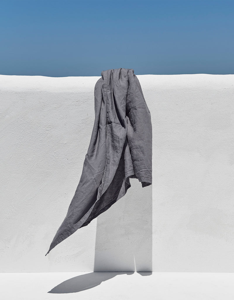 Linen Beach Throw — Slate