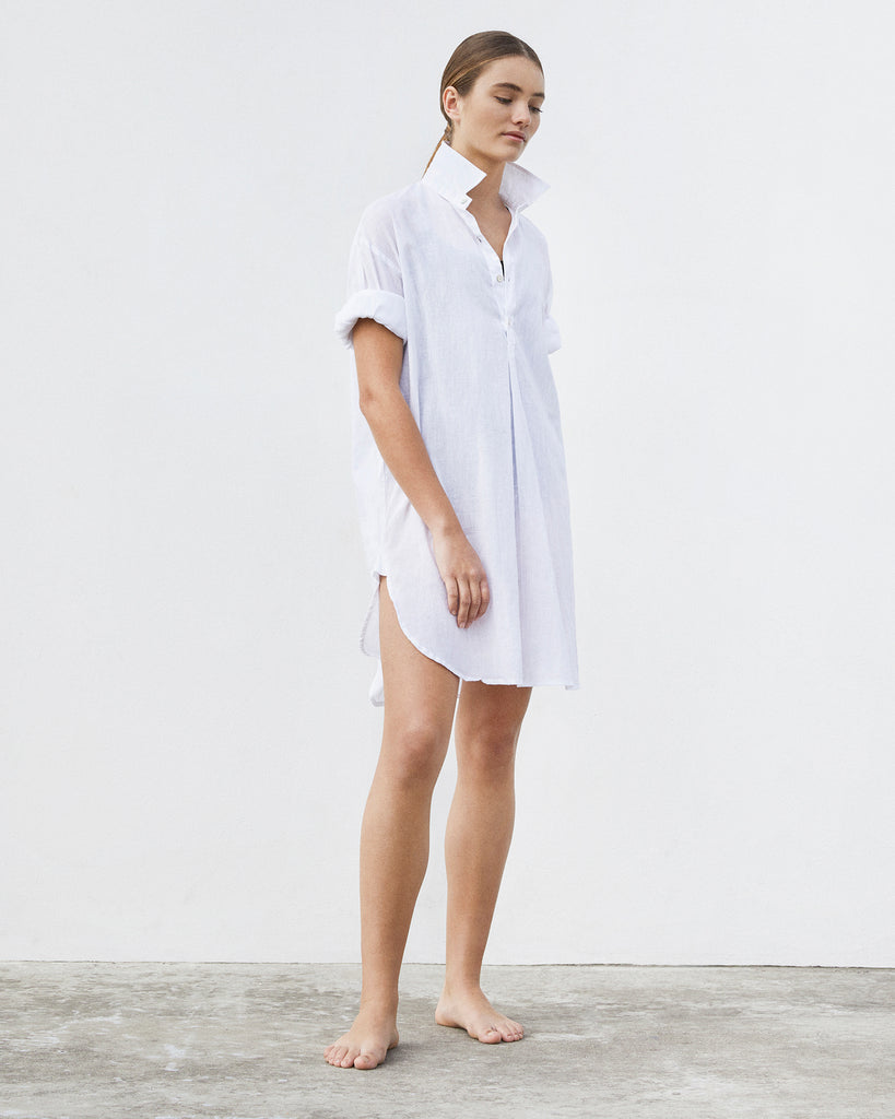 Linen Beach Shirt — White