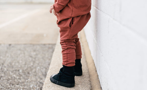 Rust Drop-Crotch Street Joggers