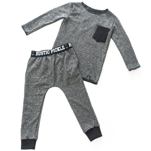 Salt & Pepper Drop-Crotch Street Joggers