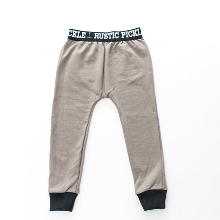 Tan Drop-Crotch Joggers