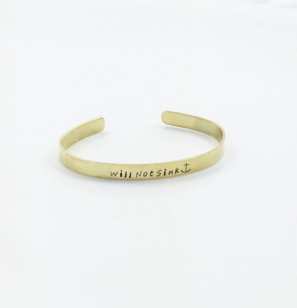 Will Not Sink Women's Brass Bracelet