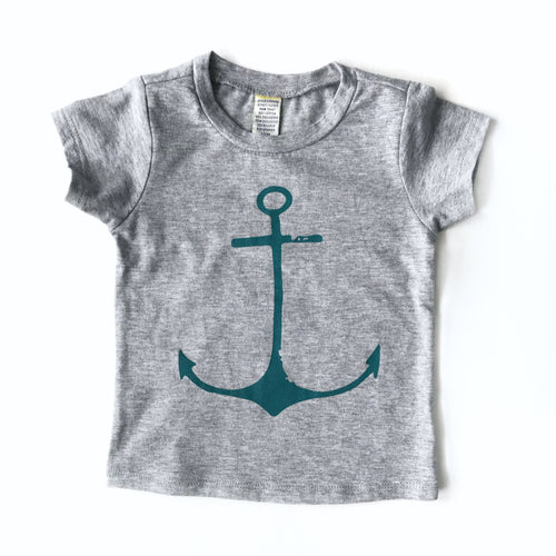 Teal Anchor Tee