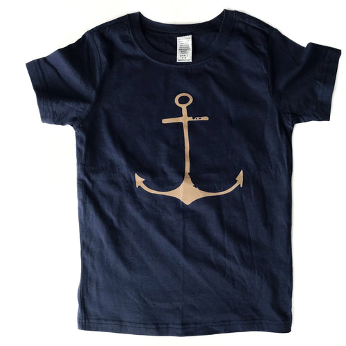 Tan Anchor Tee