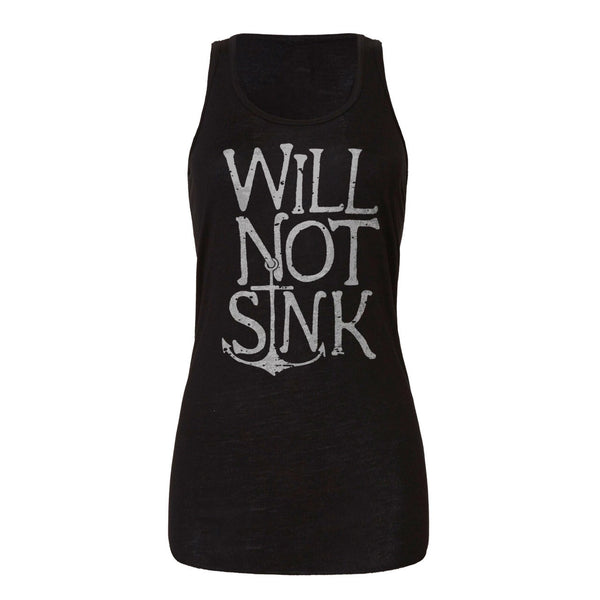 WILL NOT SINK Woman's Flowy Racerback Tank