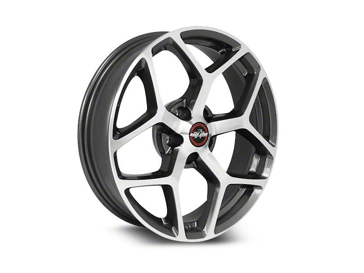 95 Recluse Metallic Gray with Machined Face - Race Star Wheels (5 Lug 5x4.75 & 5x120)