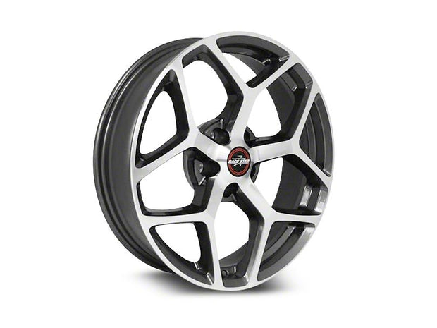 95 Recluse Metallic Gray with Machined Face - Race Star Wheels (5 Lug 5x114.3/5x4.5)