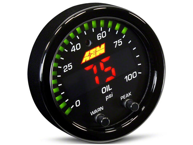 AEM Electronics X-Series Oil Pressure Gauge - Electrical (79-19 All)