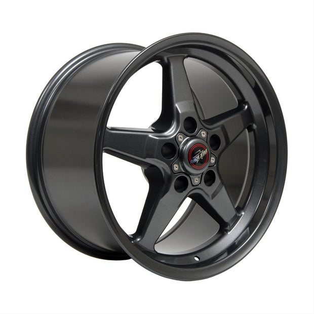 92 Drag Star Bracket Racer Metallic Gray - Race Star Wheels (5 Lug 5x114.3/5x4.5)