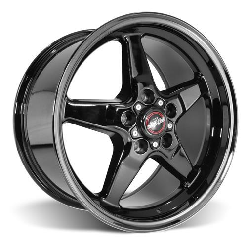 92 Drag Star Dark Star Polished Black - Race Star Wheels (5 Lug Corvette)