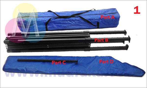 Parts of a Portable Gazebo Tent