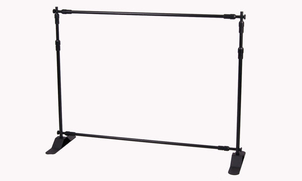 Completely assembled Adjustable Backdrop/Banner Stand for Flex