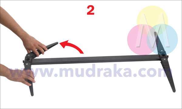 How To Setup The Outdoor Standee - Mudraka.com