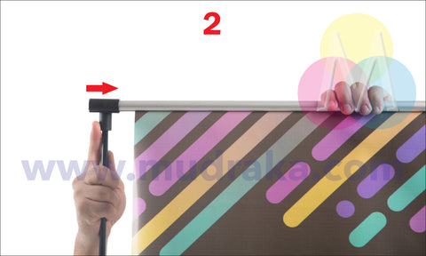 How to setup an L Banner standee