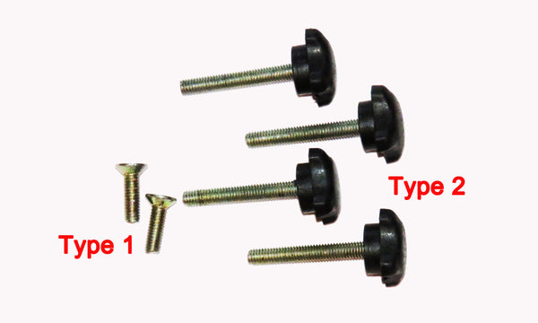 2 types of screws for the adjustable banner stand