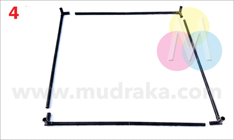 Top and bottom horizontal frame of canopy stall