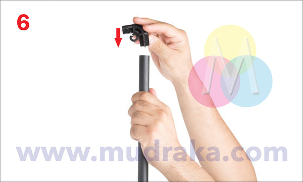 How to setup the outdoor wind resistant standee - illustrated steps on Mudraka