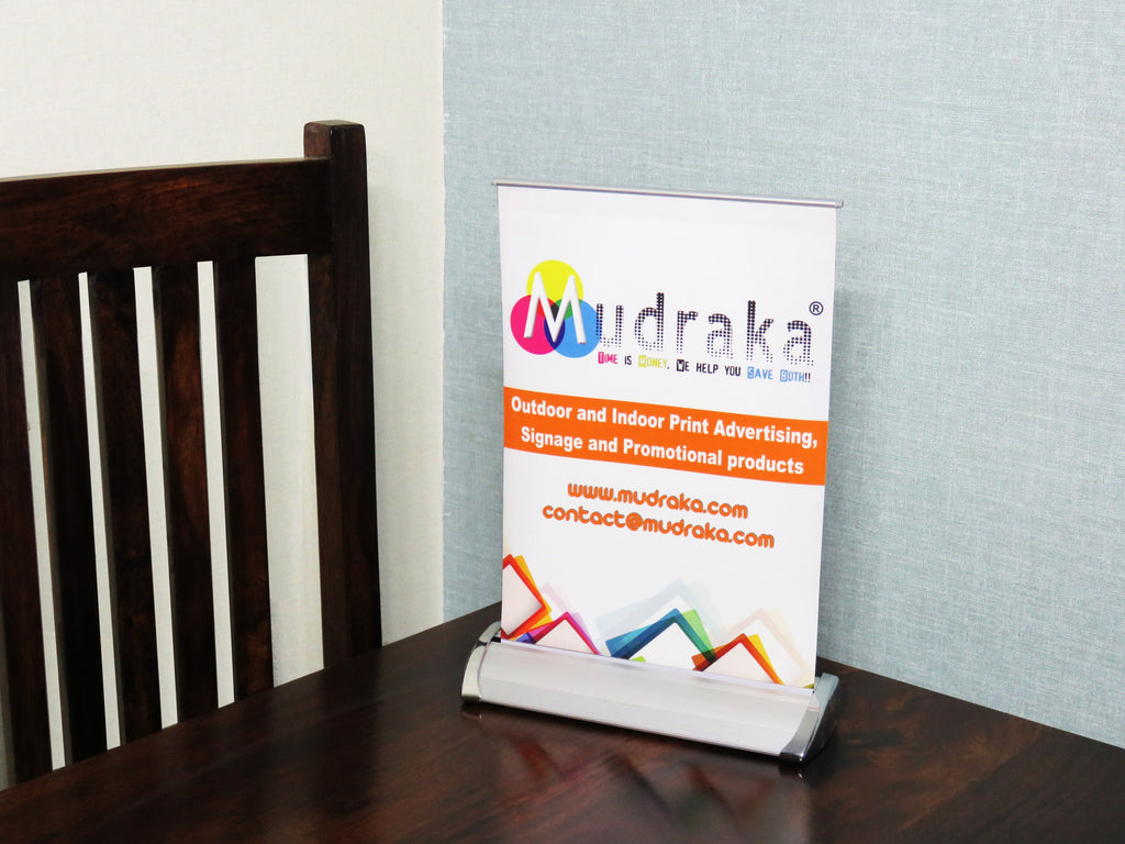 High Quality A4 Size Table Top Standee with Digital Print