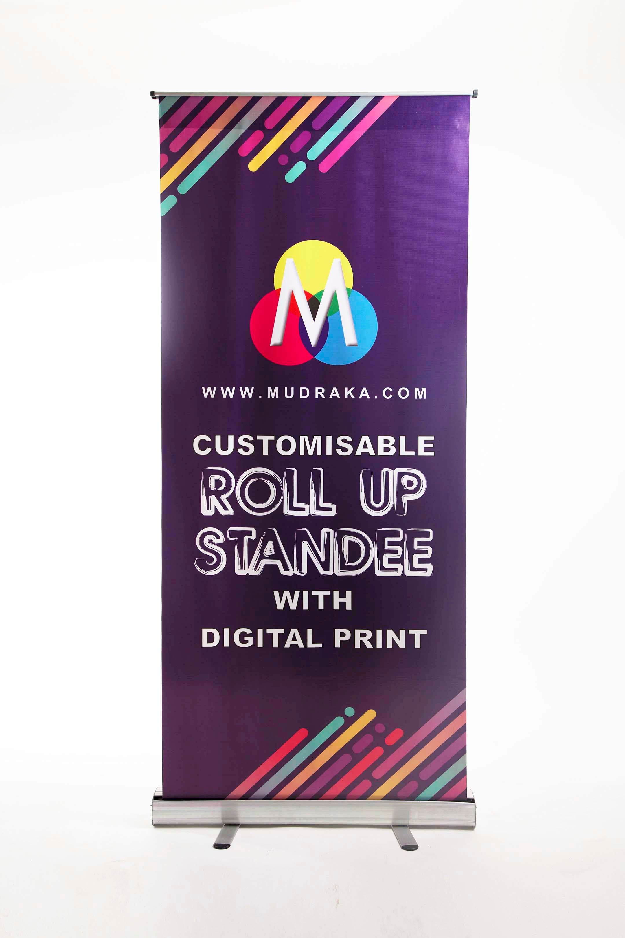 photograph relating to Making a Printable Banner identified as Roll up Standee - Star Flex - Terrific Price tag On line -