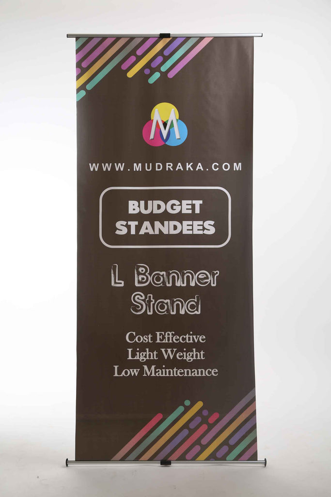 L Banner Standee at cheapest prices online on Mudraka.com