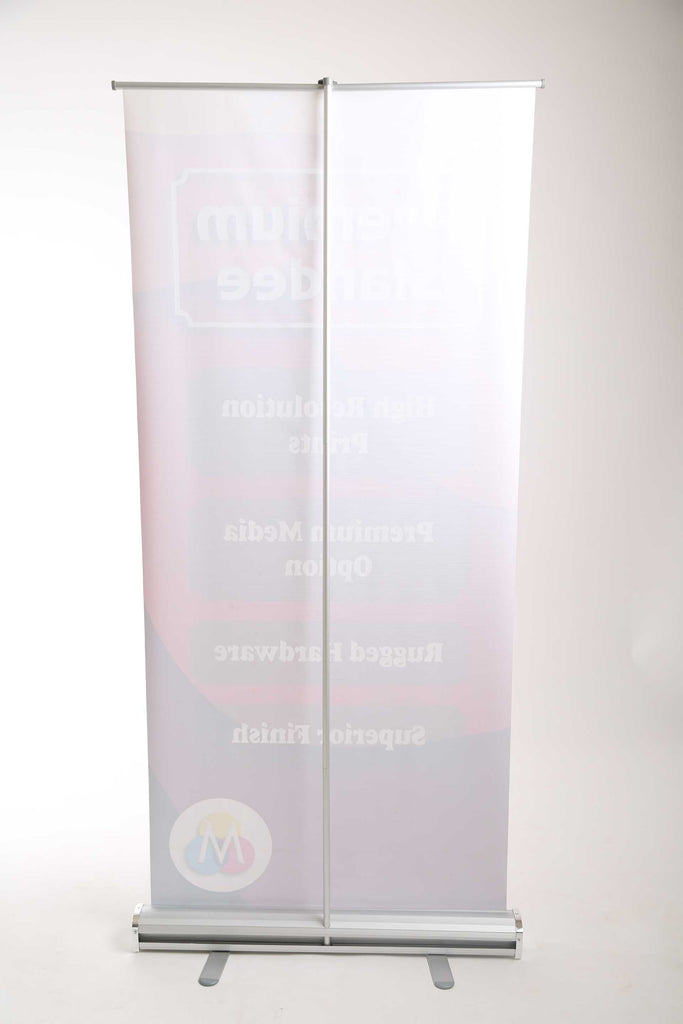 High end roll up standee with superior finish only on Mudraka.com