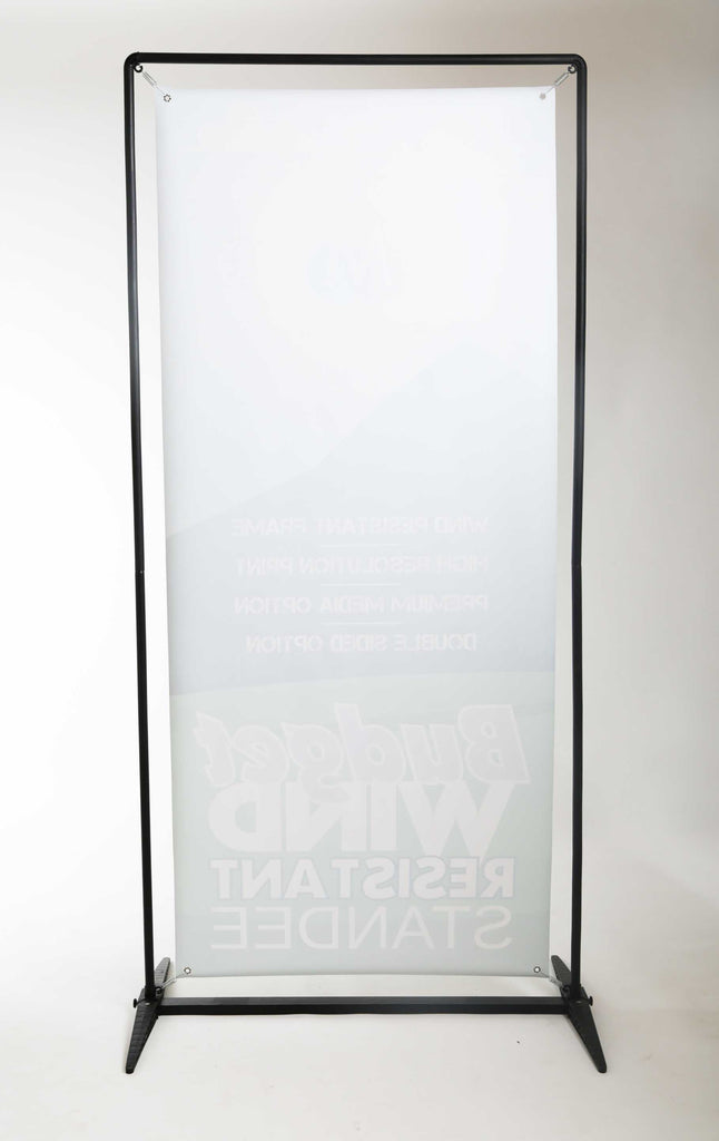 Upright standee with digital print on flex - Mudraka.com