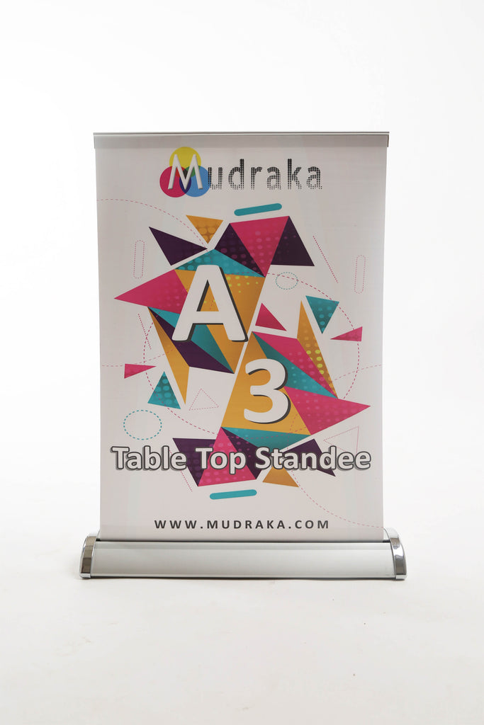 Table Top Standee - Banner Media (Includes Print)