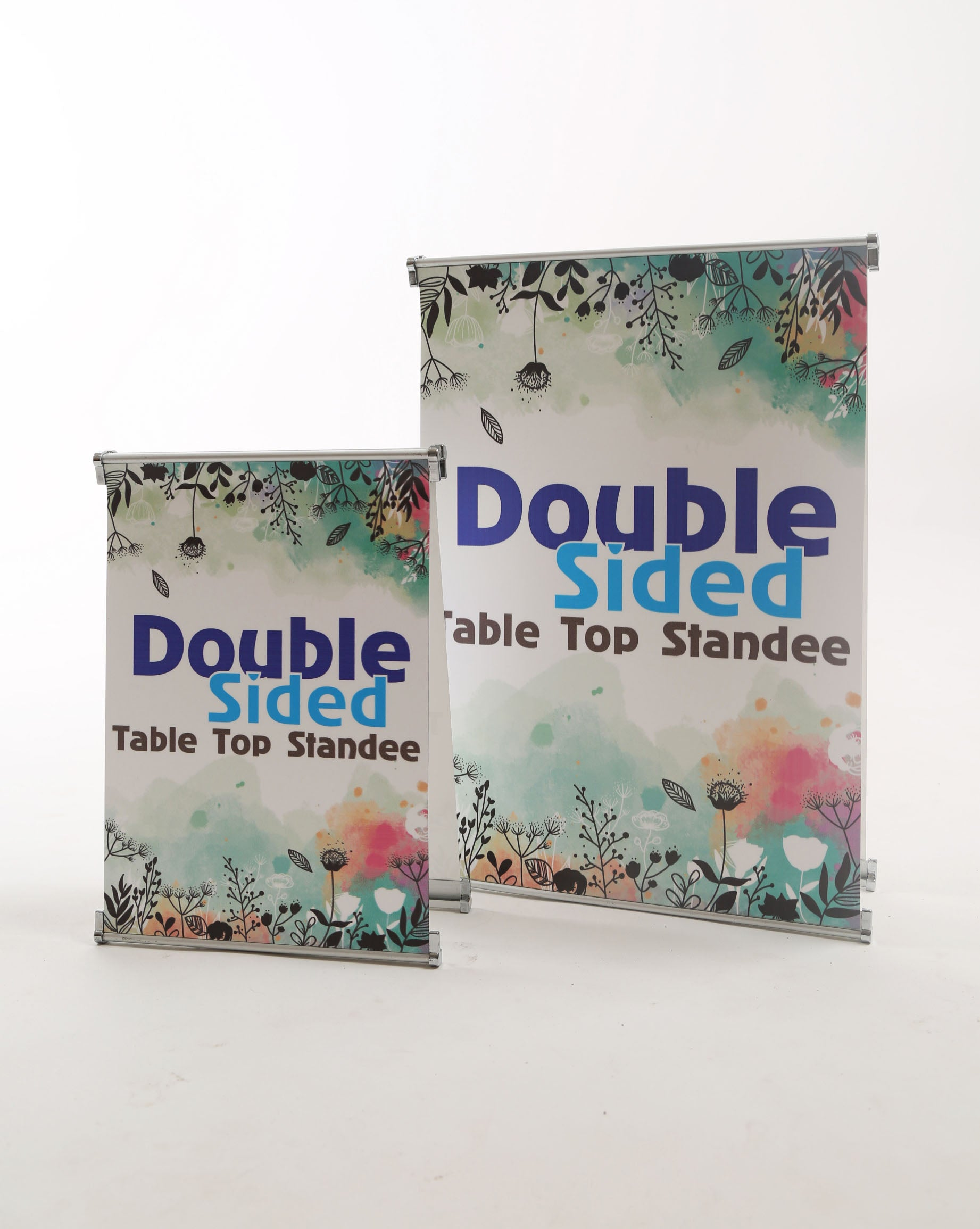 Table Top Double Side Standee - Free Shipping Anywhere In India