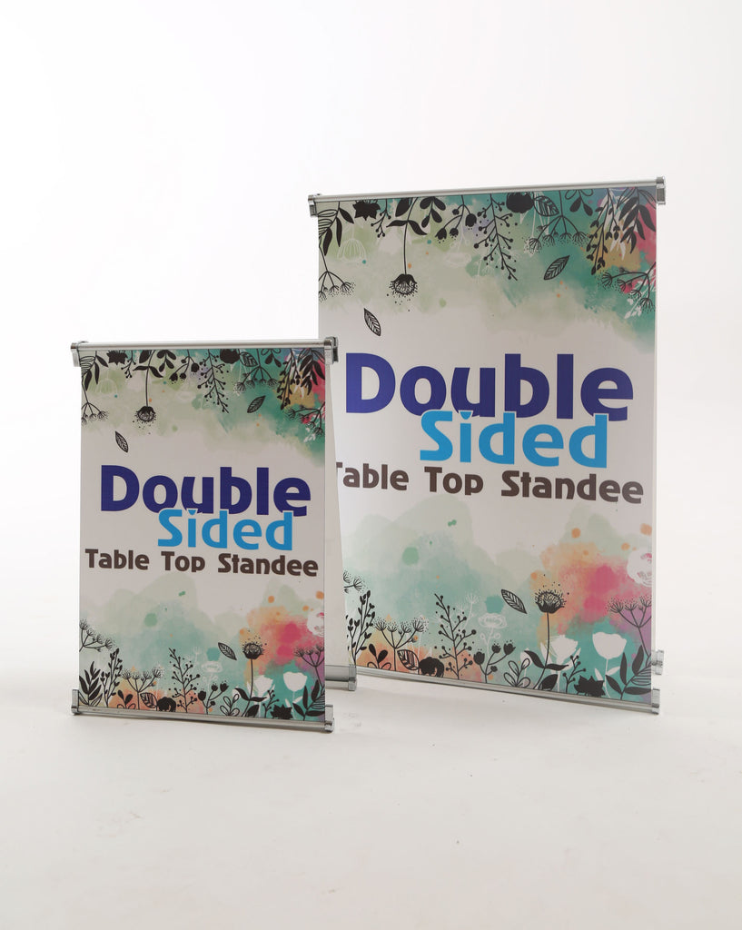 Table Top Double Sided Standee