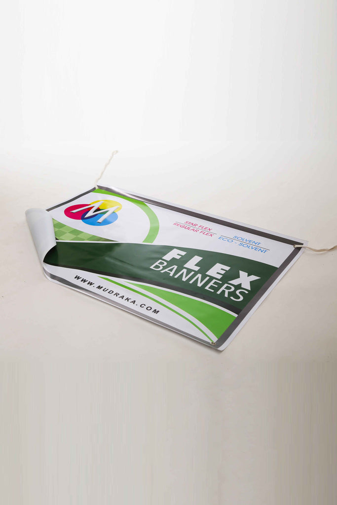 Digitally printed flex banners and posters on Mudraka.com