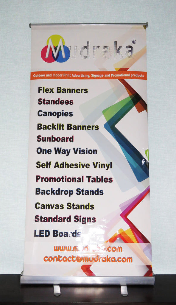 Banner Media Standee in Glossy Finish