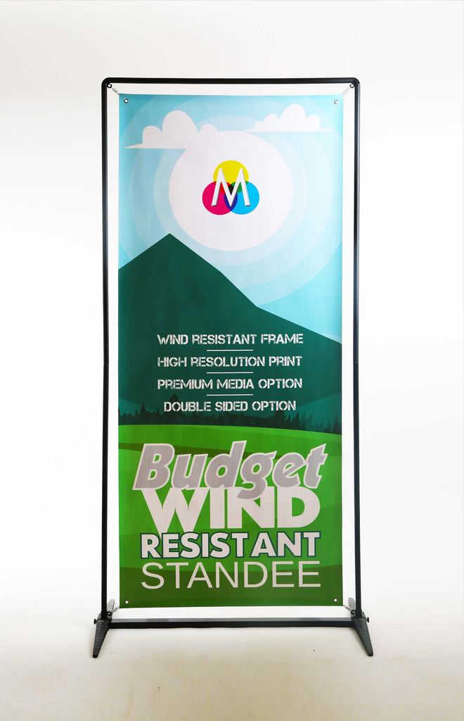 Wind resistant standee with digital print on Mudraka.com