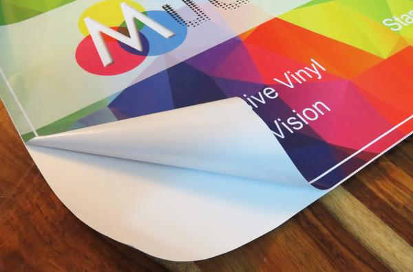 Vinyl sticker banners with digital print and free shipping on Mudraka.com