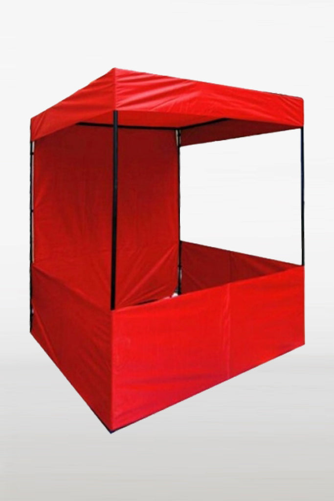 Red 4x4 feet and 6x6 feet demo tent canopy