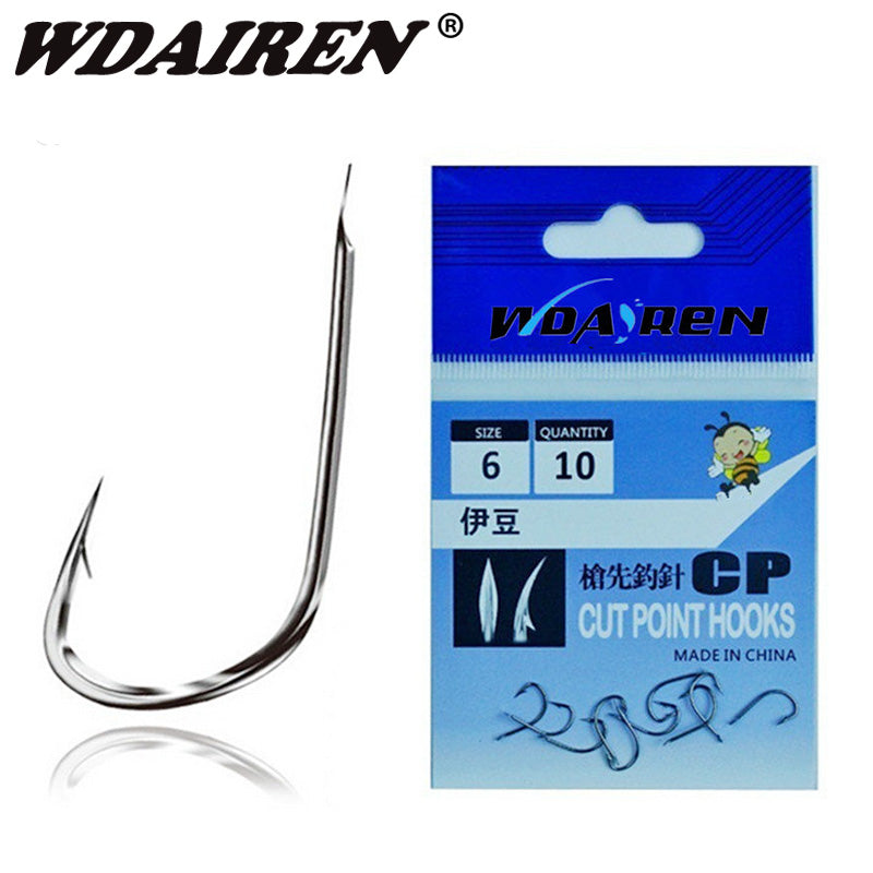 🐟NEW ARRIVAL🐟10pcs/package high Carbon Steel Fishing Hook Fishhooks Flat head
