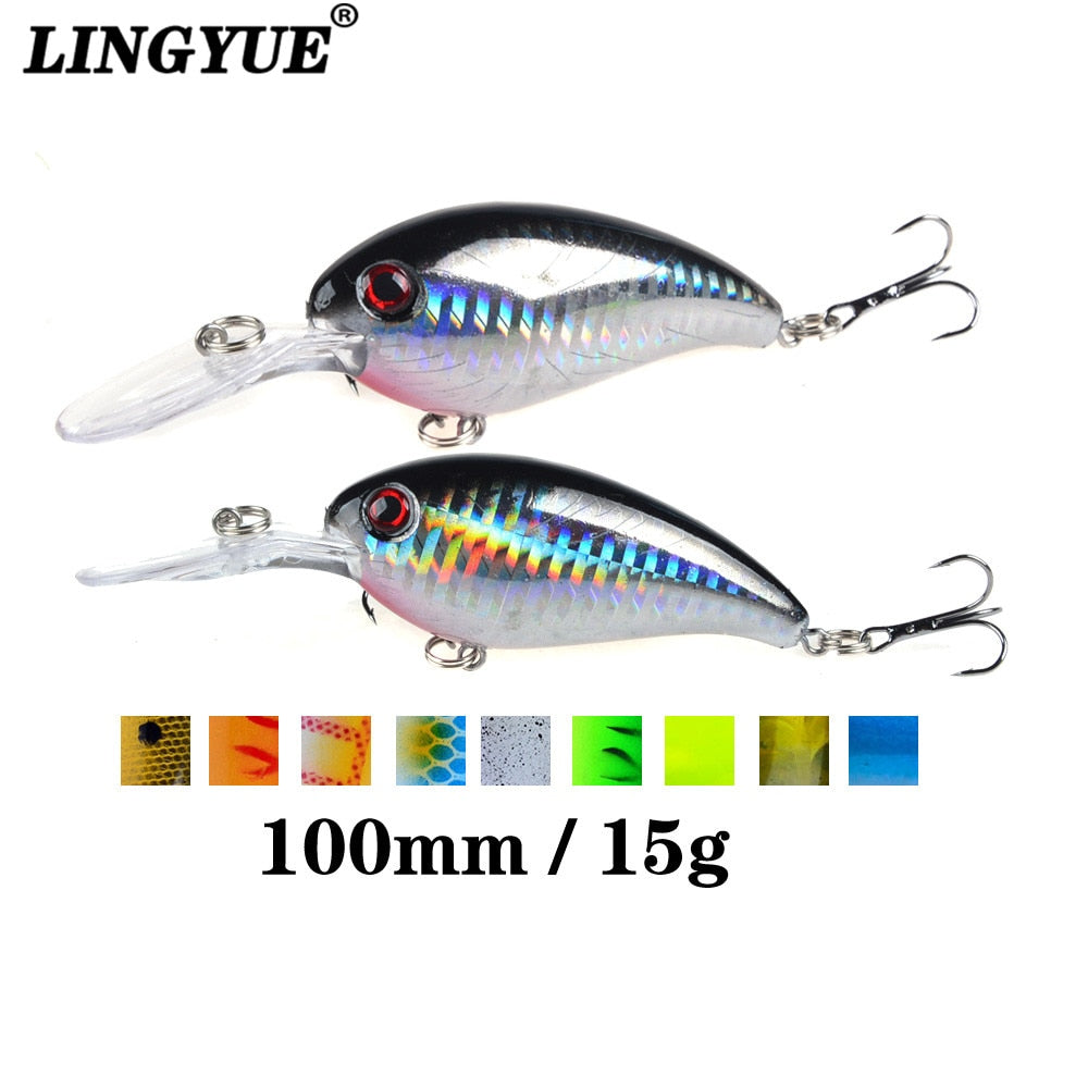 🔥BRAND NEW 2020🔥  1pcs Crank Fishing Lure Hard Bait 10cm/15g Crankbait Jerkbait Wobbler