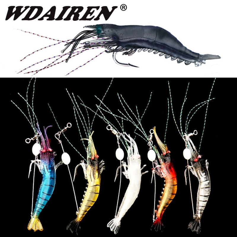 "FREE + S&H - ""WICKED ""5PCS SHRIMP SOFT PRAWN LURE"