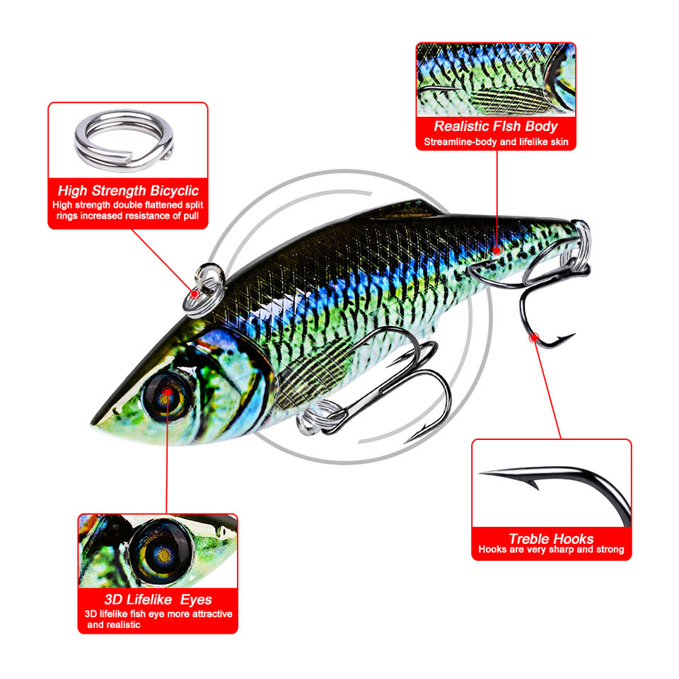 """YOUR'S FREE-JUST PAY S&H"" 7.9cm 10.5g VIB Fishing Lures New Metal Laser VIB Fishing Lure"