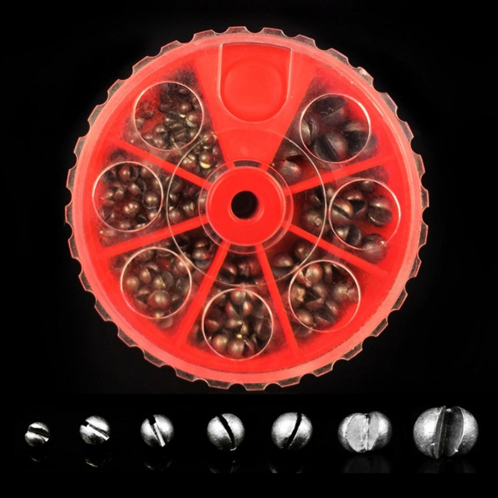 """FREE + S&H !!"" Balight 7 Grid Fishing Egg Bullet Rig Sinkers Angling Lead Weight Split Shot Box High Quality"