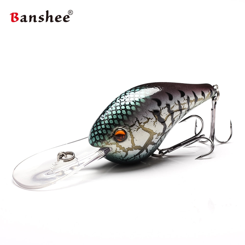 """ACTION WITH EVERY CAST"" Banshee 75mm 24g Fishing Lure Floating Wobbler-FREE S&H!"