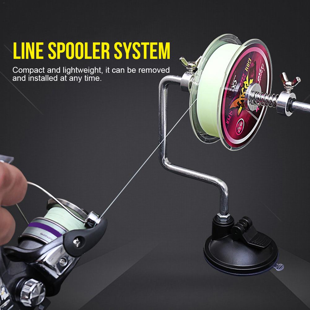 Portable Aluminum Fishing Line Winder Fishing Reel Spool Spooler System Tackle Tool Suction Cup Sea Carp Fishing Accessories 2